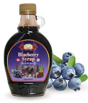 Blueberry Syrup: Mixed with maple syrup and concentrated raspberry ...